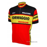 SALE $34.95 Formaggio 1977 Retro Style Men's Cycling Jersey By World Jerseys Short Sleeve Lastest